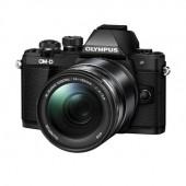 Aparat foto mirrorless OLYMPUS E-M10 Mark II black + obiectiv EZ-M1442 IIR black