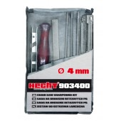 Set de ascutire a lantului HECHT 903400, pila 4 mm