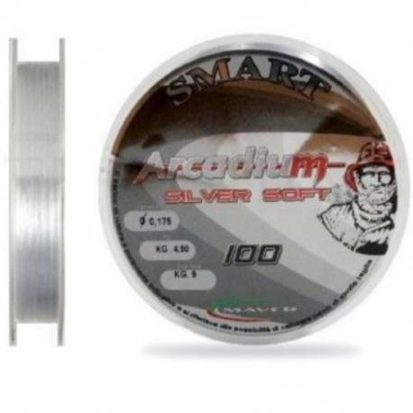 Fir monofilament MAVER ARCADIUM SILVER SOFT 100m 0.196mm 7.80kg