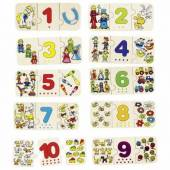 Puzzle lemn cu autocorectie invata Numerele GOKI