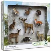 Set 9 figurine animale de padure COLLECTA