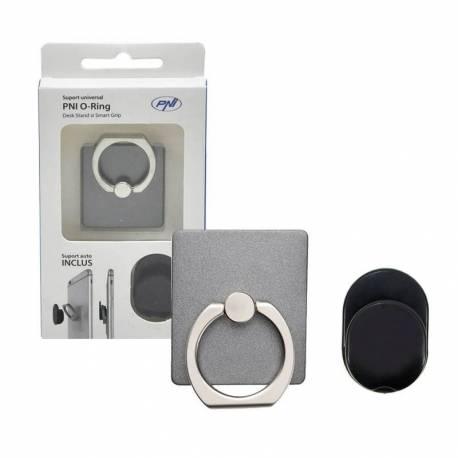 Suport universal PNI O-Ring pentru telefoane mobile si tablete, Light Black