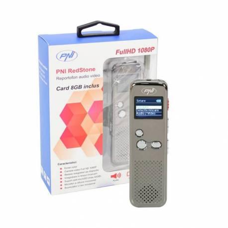 Reportofon audio video PNI RedStone audio stereo, video 1080P , MP3 player, card microSD 8GB inclus