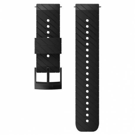 Curea Ceas Suunto 24mm Athletic 3, silicon, negru/steel, M