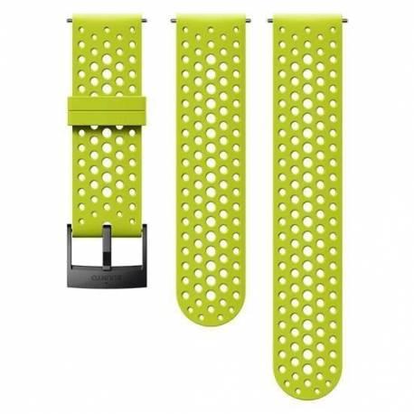 Curea ceas Suunto 24mm Athletic 1, silicon, lime, S/M