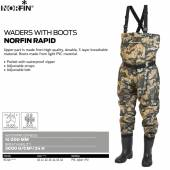 Waders cu cizme - NORFIN Rapid (camuflaj)