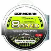 Fir textil CORMORAN CORASTRONG 8BRAID VERDE 035MM/37,5KG/135M