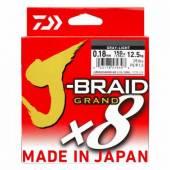Fir textil DAIWA J-BRAID GRAND X8, Grey, 028mm, 26,5kg, 135m