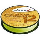 Fir textil CLIMAX CARAT 12 FLUO YELLOW 135m 0.13mm 9.5kg
