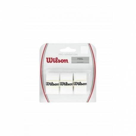 Set overgrip Wilson Pro Sensation, alb, 3 bucati