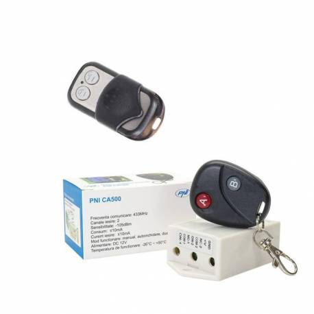 Pachet Releu cu telecomanda PNI CA500 pentru comanda 1 sau 2 usi