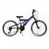 """Bicicleta MTB PASSATI FOX 24"""", ALB/ALBASTRU"""