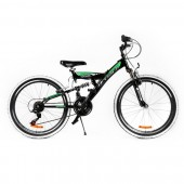 "Bicicleta MTB PASSATI VOYAGER 24"", NEGRU/VERDE"