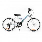 """Bicicleta MTB PASSATI FOX 20"""", ALB/ALBASTRU"""