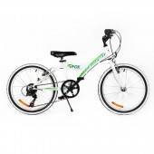 """Bicicleta MTB PASSATI FOX 20"""", ALB/VERDE"""