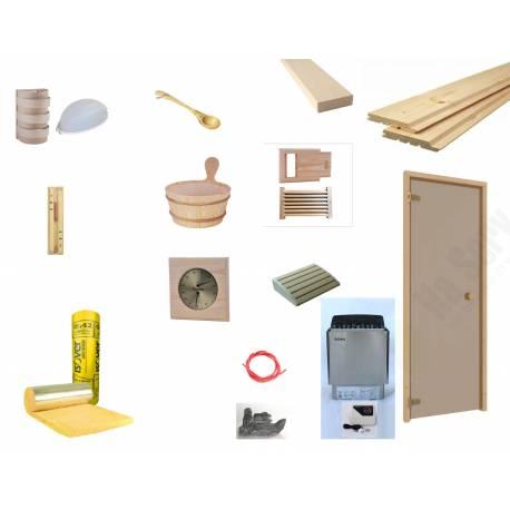 Kit DIY sauna finlandeza Waincris Saune BASIC 2