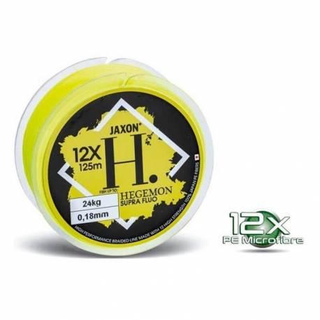 Fir textil Jaxon Hegemon Supra 12X Fluo Yellow, 125m, 0.14mm, 16kg