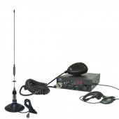 Kit Statie radio CB PNI ESCORT HP 8001 ASQ + Casti HS81 + Antena CB PNI ML70 cu magnet inclus