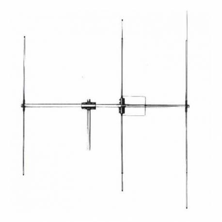 Antena CB de baza LEMM DIRETTIVA D3, 3 elementi, 26-30MHz, 1200W, castig 9dB, lungime 270cm