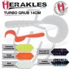 Grub HERAKLES TURBO GRUB 14cm BLACK RED FLK