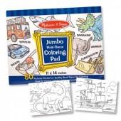 Caiet jumbo cu desene pentru colorat Melissa&Doug Albastru