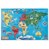 Puzzle de podea Harta Lumii World Map Melissa&Doug