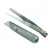 Cutter cu lama trapez + 2 lame fierastrau STANLEY 0-10-129